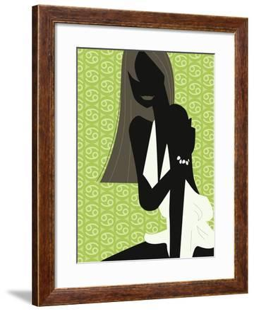 Woman Wearing Dress--Framed Giclee Print