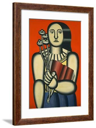 Woman with a Book--Framed Giclee Print