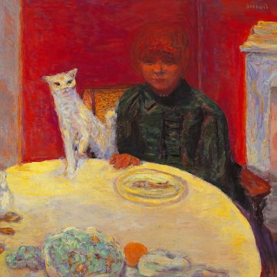 Woman with a Cat-Pierre Bonnard-Giclee Print