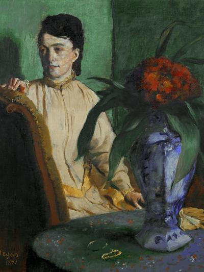 Woman with a Chinese Vase, 1872-Edgar Degas-Giclee Print