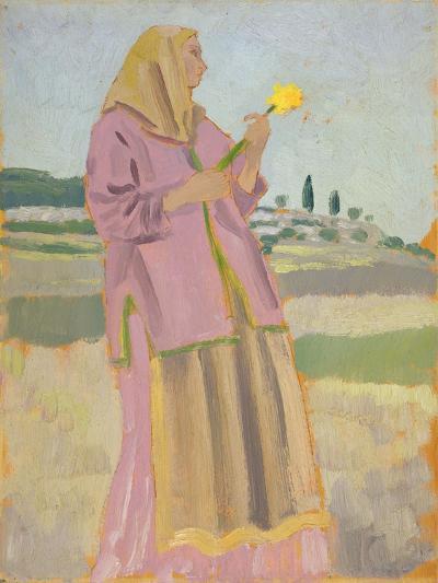 Woman with a Daffodil, 1910-Augustus Edwin John-Giclee Print