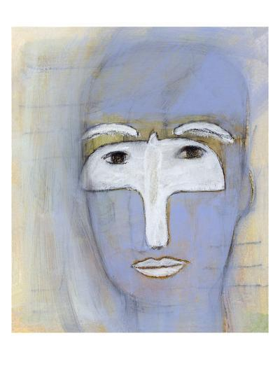 Woman with a dove over her eyes-Marie Bertrand-Giclee Print