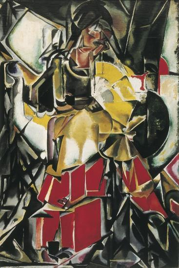 Woman with a Fan-Maria Gutierrez-Cueto Blanchard-Art Print