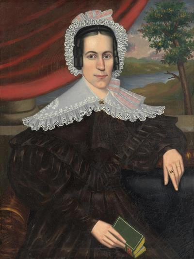 Woman with a Green Book (Louisa Gallond Cook), 1838-Erastus Salisbury Field-Giclee Print