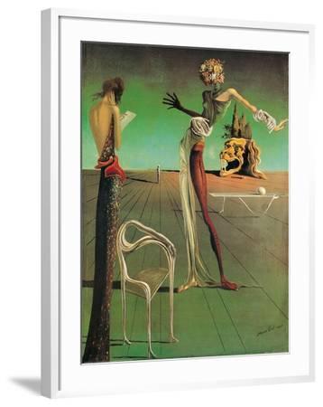 Woman with a Head of Roses-Salvador Dalí-Framed Art Print