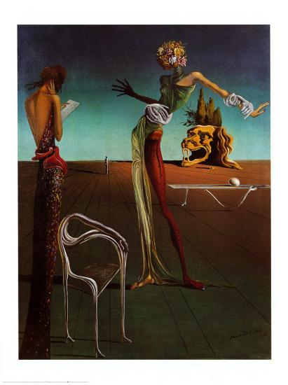 Woman with a Head of Roses Art Print by Salvador Dalí | Art com