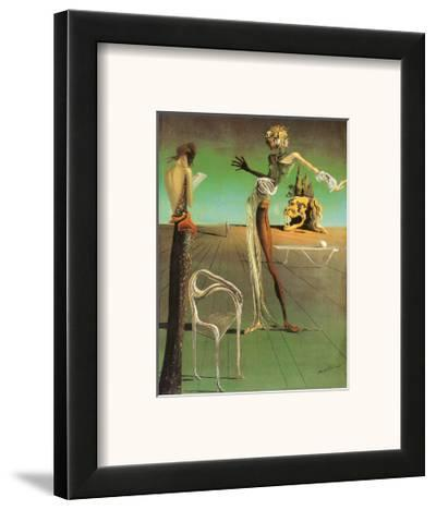 Woman with a Head of Roses-Salvador Dal?-Framed Art Print
