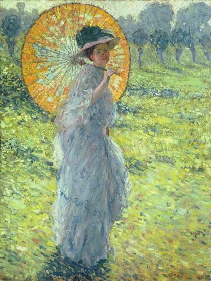 Woman with a Parasol, c. 1906-Frederick Carl Frieseke-Giclee Print