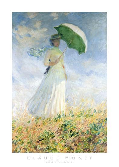 Woman With A Parasol-Claude Monet-Art Print