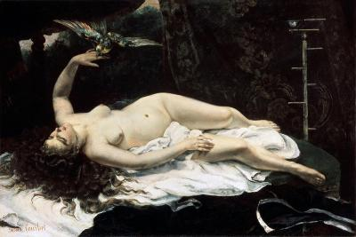 Woman with a Parrot, 1866-Gustave Courbet-Giclee Print