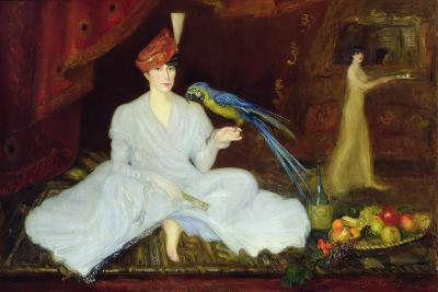 Woman with a Parrot, 1905-Georges Bottini-Giclee Print