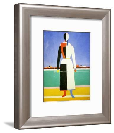 Woman with a Rake, 1928-1932-Kazimir Malevich-Framed Giclee Print