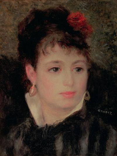 Woman with a Rose in Her Hair-Pierre-Auguste Renoir-Giclee Print