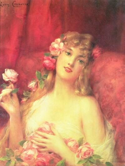 Woman with a Rose-Leon Francois Comerre-Giclee Print