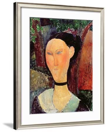 Woman with a Velvet Neckband, C.1915-Amedeo Modigliani-Framed Giclee Print