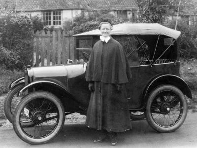 Woman with an Austin Seven, C1923--Photographic Print