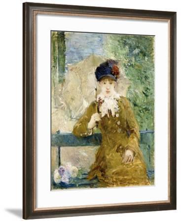 Woman with an Umbrella, 1881-Berthe Morisot-Framed Giclee Print