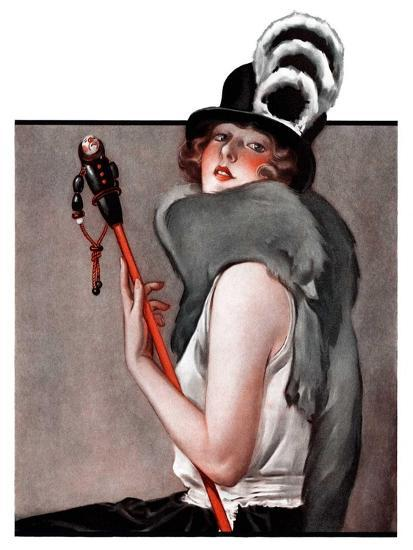 """""""Woman with Baton,""""February 28, 1925-Roy Best-Giclee Print"""