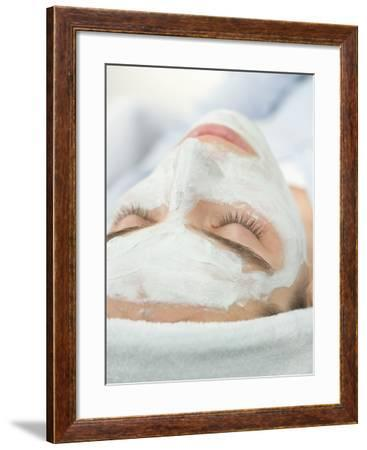 Woman with Face Mask--Framed Photographic Print
