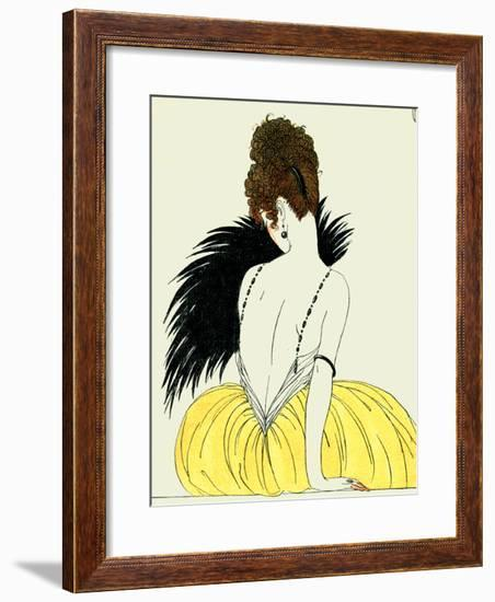 Woman with Fan-Georges Barbier-Framed Giclee Print