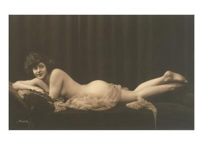 Woman with Filmy Wrap--Art Print