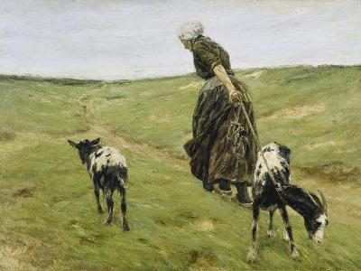 Woman with Goats on the Dunes, 1890-Max Liebermann-Giclee Print