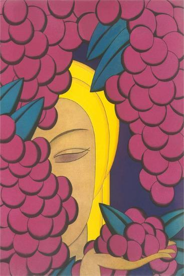 Woman with Grapes--Art Print