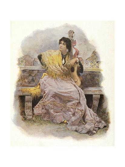 Woman with Guitar, 1904--Giclee Print