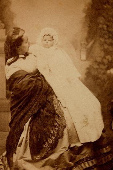 Woman with Her Child--Photographic Print