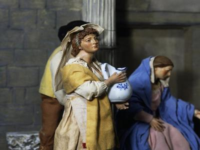 Woman with Jug, Nativity Scene Set at Forum of Nerva or Colonnacce in Rome--Giclee Print