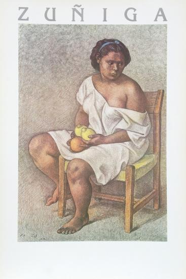 Woman with Lemons-Francisco Zuniga-Collectable Print