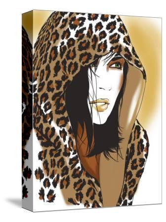 Woman with Leopard Skin Hood