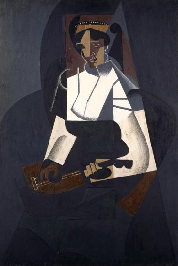 Woman with Mandolin, after Corot, 1916-Juan Gris-Giclee Print
