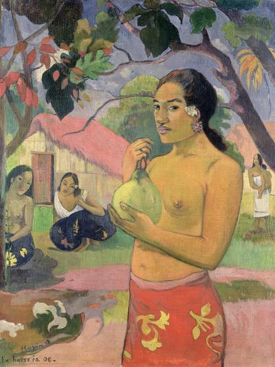 Woman with Mango, 1893-Paul Gauguin-Giclee Print