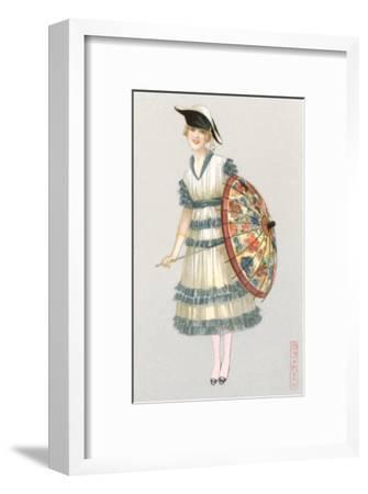 Woman with Parasol, Fashion Illustration