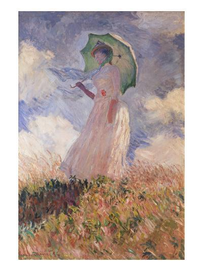 Woman with Parasol Turned to the Left (Suzanne Hoschedé), 1886-Claude Monet-Giclee Print