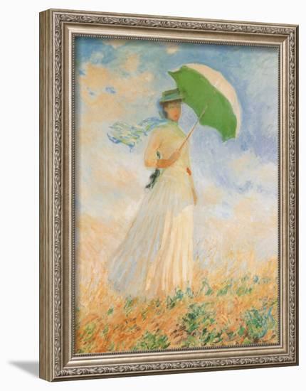Woman with Parasol-Claude Monet-Framed Art Print