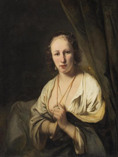 Woman with Pearls in her Hair, c.1653-Ferdinand Bol-Giclee Print