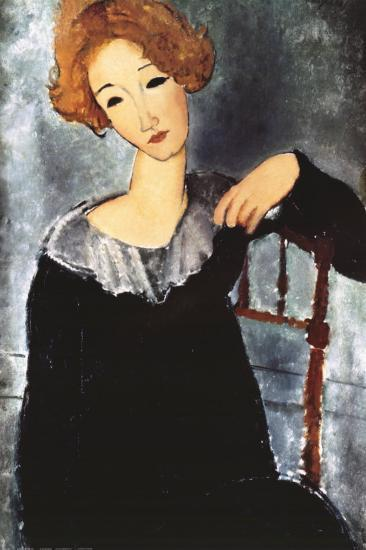 Woman with Red Hair-Amedeo Modigliani-Art Print