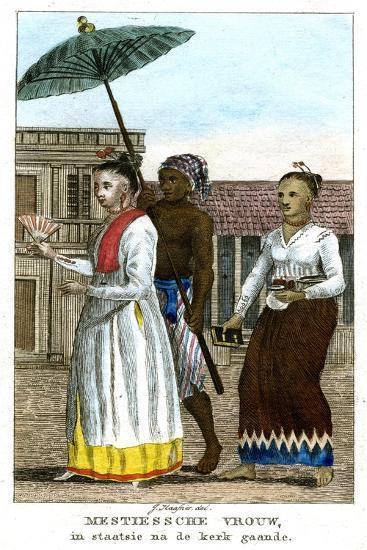 Woman with Servants, C1808-J Haafner-Giclee Print