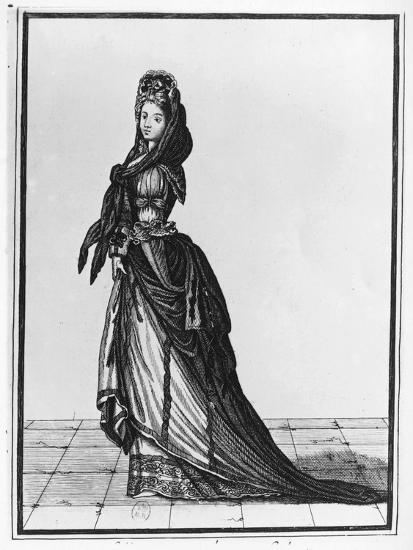 Woman with Shawl or Fichu, 1688-Nicolas De Lespinasse-Giclee Print