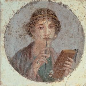 Woman with Stiletto Or Portrait of Sappho (?)