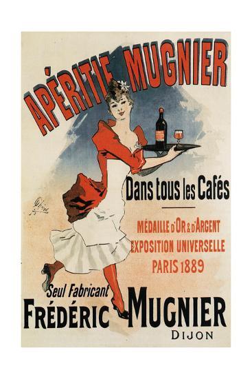 Woman with Tray - Vintage Apertif Mugnier Poster-Lantern Press-Art Print