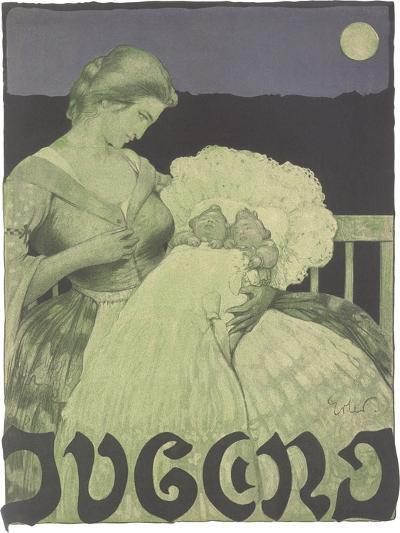 Woman with Twin Babies--Art Print