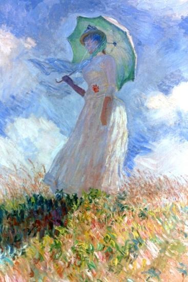 Woman with Umbrella Turned to the Left, 1886-Claude Monet-Giclee Print