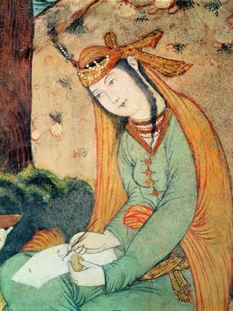 Woman Writing in the Court of Shah Abbas I 1585-1627