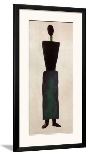 Womanfigure-Kasimir Malevich-Framed Art Print