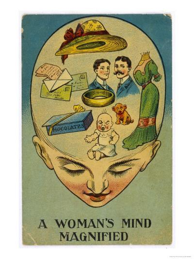 Womans Mind Magnified--Giclee Print