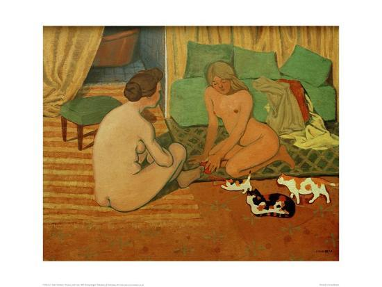 Women and Cats-F?lix Vallotton-Giclee Print