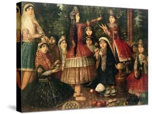 Women and Children in a Garden, 19th Century